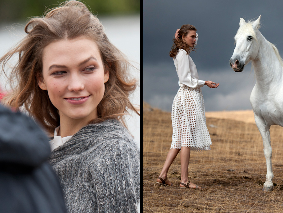 Making-of Mercedes-Benz Fashion Week Berlin A/W 2013 mit Topmodel Karlie Kloss