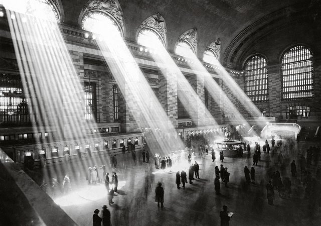 The main concourse at Grand Central Terminal. Grand Central heralded the age of electric rails, 1929