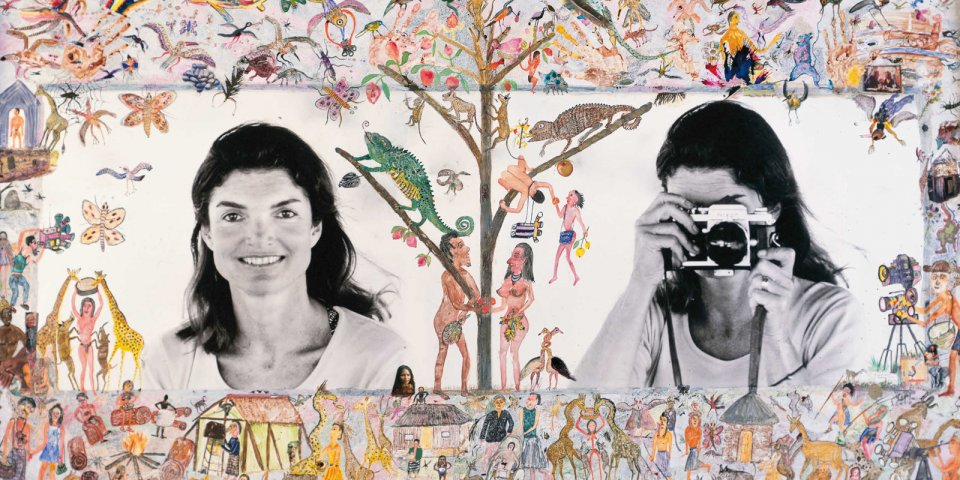 Jackie O. Photo Lesson Embellished by Hog Ranch Art Department, Skorpios, 1971.